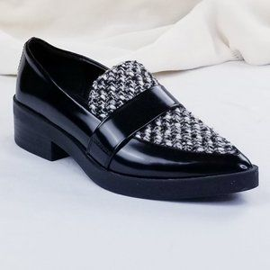 Zara Basic Patent Leather Cloth Pointed Toe Loafer
